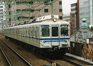 Keikyu 1000 series - Hokuso 7150 series set 7161 in July 1995