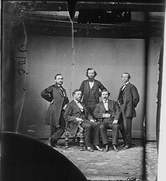 Logan H. Roots - Roots (standing at left) with other members of the Arkansas congressional delegation