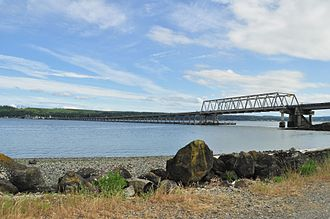Hood Canal Bridge - Seen from the north (Termination Point)