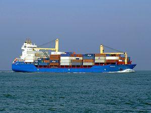 Hooge pic2 approaching Port of Rotterdan, Holland.JPG
