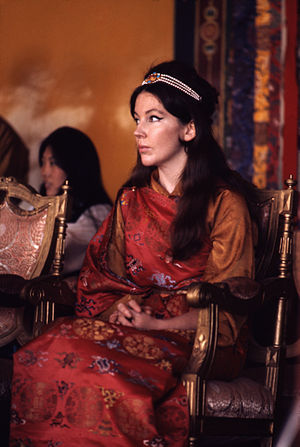 Hope Cooke - Hope Namgyal, Queen of Sikkim in 1971, photograph by Alice Kandell