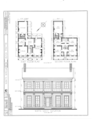 Horace Billings House, Lafayette and Third Streets, Beardstown, Cass County, IL HABS ILL,9-BEATO,1- (sheet 1 of 2).png