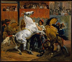 The Start of the Race of the Riderless Horses