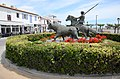 Horse-rider decorated roundabout at Stes-Marie-de-la-Mer.Typical Camargue scenery - panoramio.jpg