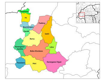 Karankasso-Vigue Department location in the province