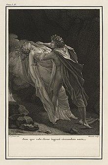Eneide, Libro IV, 497. Illustrazione di François Gérard in un'edizione del 1798