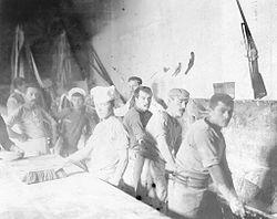 Huelga de panaderos de 1902 en Buenos Aires. En este gremio se extendió ampliamente el anarquismo. (Foto: AGN)
