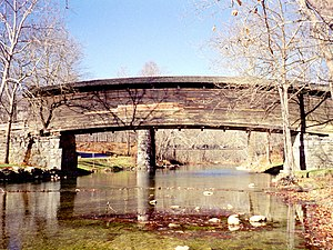 Humpback Covered Bridge - Side view of Humpback Bridge from the south