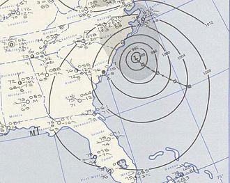 Hurricane Diane - Image: Hurricane Diane August 17, 1955 weather map