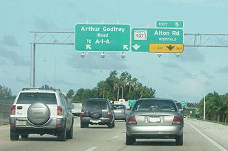 Interstate 195 (Florida) - I-195 at exit 5