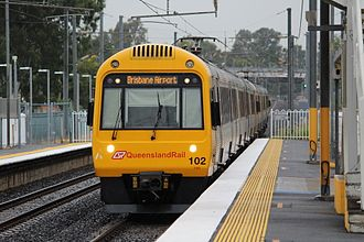 Queensland Rail City network - IMU 102 at Rocklea station in April 2017