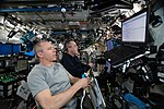 ISS-56 Drew Feustel and Ricky Arnold work in the Destiny lab (3).jpg