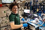 ISS-59 Christina Koch works inside the Harmony module (3).jpg