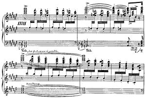 Iberia (Albéniz) - Score of El Corpus Christi en Sevilla, which gives an idea of the complexity of the writing for piano.