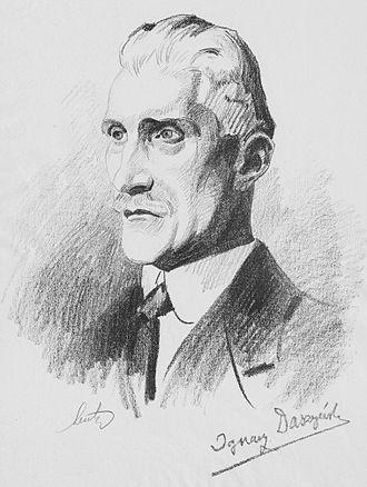 Ignacy Daszyński - Portrait by Stanisław Lentz, 1919.