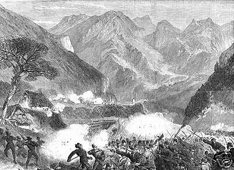 Illustrated London News - 11 agosto 1866. Combattimento fra garibaldini e austriaci a Bezzecca.jpg