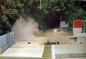 1994 San Marino Grand Prix - Senna's fatal accident after the moment of impact
