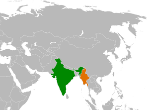 Locator map showing India and Burma