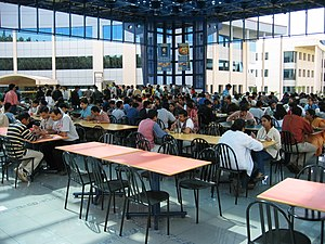 Cafeteria - A corporate office's cafeteria in Bangalore, India, December 2003.