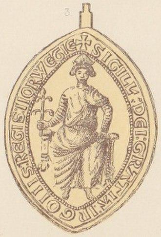 House of Godwin - The seal of king Inge II of Norway