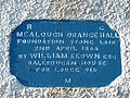 Inscription on Mealough Orange Hall - geograph.org.uk - 82586.jpg