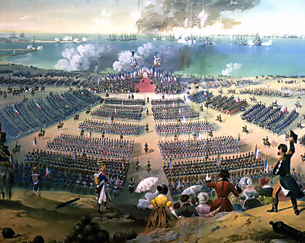Inspection of troops at Boulogne, 15 August 1804 Inspecting the Troops at Boulogne, 15 August 1804.png