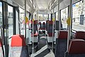 Interior of Škoda Artic tram in Helsinki, 2020 April.jpg
