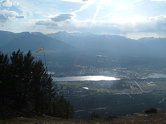 Invermere - Invermere, British Columbia, with Mount Nelson in the distance