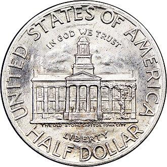Iowa Centennial half dollar - Obverse