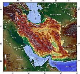 carte: Géographie de l'Iran