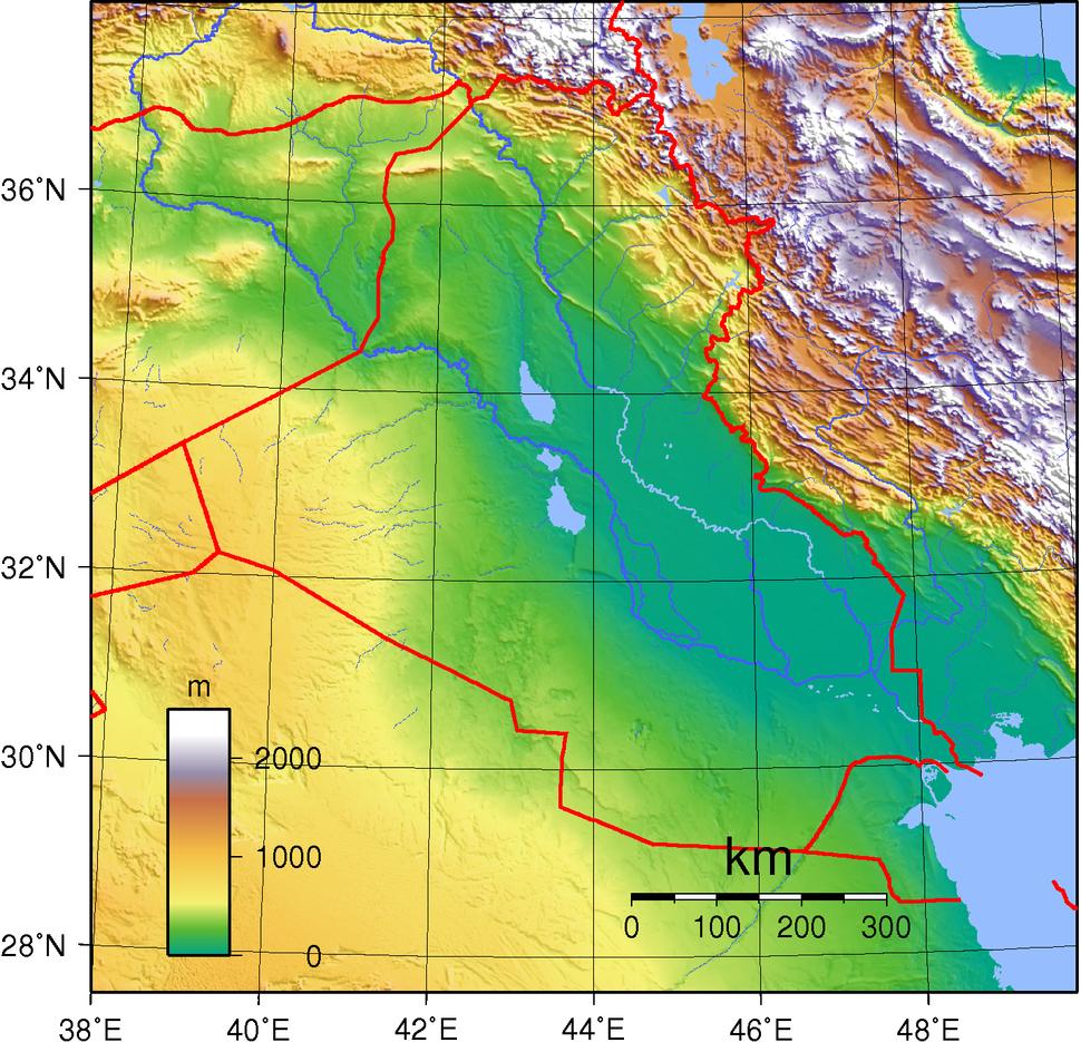 Iraq Topography