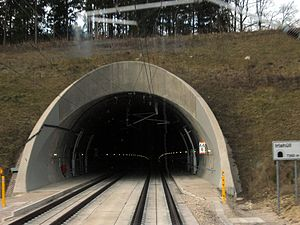 Nuremberg–Munich high-speed railway - Image: Irlahuell tunnel south portal
