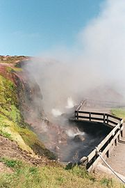 Deildartunguhver, Iceland: the highest flow hot spring in Europe