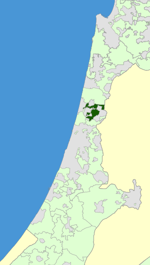 Israel Map - Lev HaSharon Regional Council Zoomin.svg