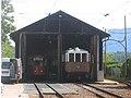 Italian trams in shed.jpg