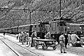Italien FS Bahnhof Fortezza am Brenner mit Drehstrombetrieb 1954.jpg