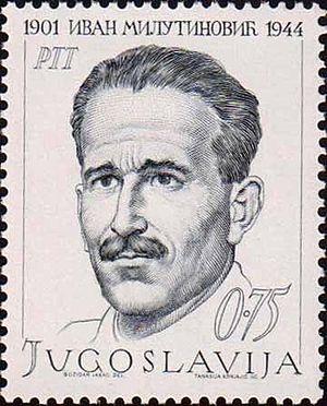 Ivan Milutinović - Ivan Milutinović on a 1968 Yugoslav stamp