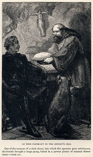 Friar Tuck - Image: J. Cooper, Sr. Sir Walter Scott Le Noir Faineant in the Hermit's Cell Ivanhoe