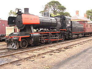 Victorian Railways J class - J515 on the Victorian Goldfields Railway in January 2007