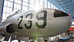 JASDF T-33A(71-5239) nose section right front view at Hamamatsu Air Base Publication Center November 24, 2014 01.jpg