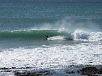 Jeffreys Bay - Image: J Bay Surfing at supertubes 001