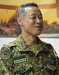 JGSDF Lieutenant General Shigeru Kobayashi 小林茂陸将 (US Air Force photo 160827-F-GX249-036 U.S., Japanese forces talk tactics for evacuation operations).jpg