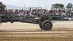 JGSDF Type 58 105mm Howitzer Right Side View at Camp Itami October 9, 2016 01.jpg