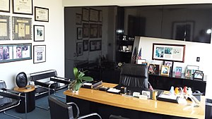 Johnnie Cochran - Cochran's office, maintained in memoriam at The Cochran Firm, 4949 Wilshire Boulevard, Los Angeles, California