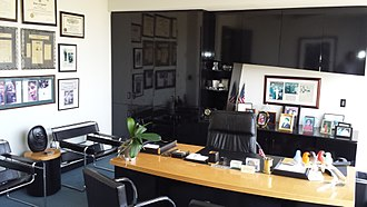 Johnnie Cochran - Cochran's office, maintained in his memory at The Cochran Firm, 4949 Wilshire Boulevard, Los Angeles, California
