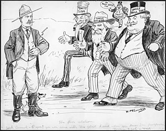Johnny Canuck - An editorial cartoon, c. 1910, portraying Johnny Canuck
