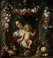 Jacob Jordaens, Frans Ykens, Adriaen van Utrecht - Virgin and child in a garland.jpg