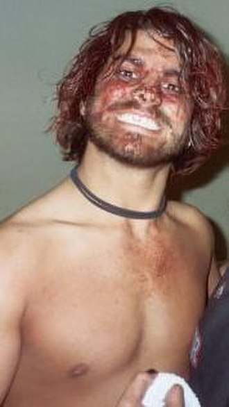 Jimmy Jacobs - Jacobs shortly after his steel cage match against B.J. Whitmer.