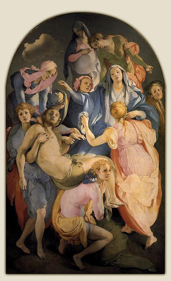 フィレンツェの芸術・教会(ポントルモ「十字架降架」)