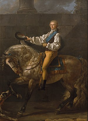 Jacques-Louis David - Equestrian portrait of Stanisław Kostka Potocki (1781)